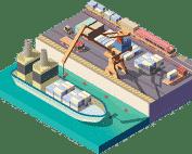 بندر، اسکله و بازرسی دریایی